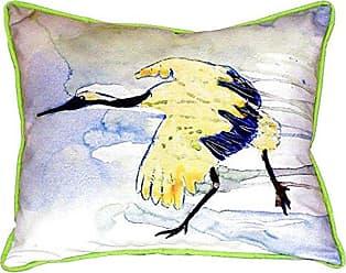 Betsy Drake SN163 Yellow Crane Pillow, 11 x14