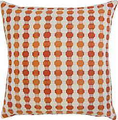 The Pillow Collection Erela Geometric Bedding Sham Tangerine Queen/20 x 30