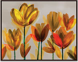 Gallery Direct Contemporary Poppies Yellow Framed Printed Canvas Wall Art - 97958KI000
