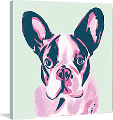 Marmont Hill French Bulldog by Molly Rosner Painting Print on Wrapped Canvas 48x48 Multicolor