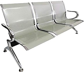 Pelegrin Cadeira Longarina Aeroporto Cromada 3 Lugares