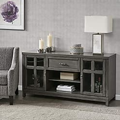 Jla Home Madison Park Signature MPS133-0196 Helena Media Console Cabinet - Modern Mid-Century, Rustic Design Buffet/Sideboard Accent Living Room Furniture, 60 Wide, Grey
