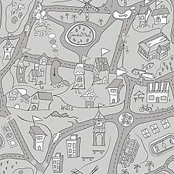 Portodesign Papel de Parede Vinílico Rolo Dreamland DR11902 Porto Design Cinza