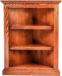 Forest Designs Traditional Oak Corner Bookcase Unfinished Alder, Size: 72 in. - 6701- TR-72H-UA