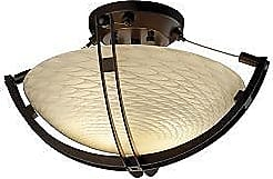 Justice Design Group Fusion Round Semi-Flush Bowl with Crossbar