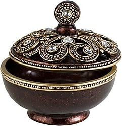 Ore International K-4272JX Moselle Jewelry Box, 8 W x 8.5 H, 8 x 8.5, Bronze