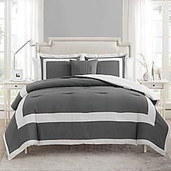 VCNY Home Avondale 4pc Comforter Set, Queen, Grey/White