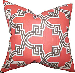 The Pillow Collection Letha Geometric Bedding Sham Orange Standard/20 x 26