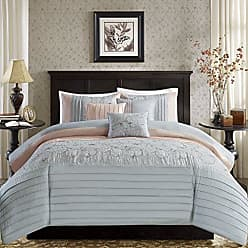 Madison Park LAF02-0322 Serene Embroidered 6 Piece Duvet Cover Set Blush Full/Queen