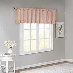 Madison Park Bessie Cotton Horizontal Ruffle Valance Pink 50x18, 50 x 18