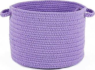 Rhody Rug Fun Braids Solid Violet 14 x 10 Basket