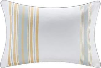 Madison Park Newport Printed Stripe 3M Scotchgard Outdoor Modern Throw Pillow,Contemporary Striped Fashion Oblong Decorative Pillow, 14X20, Yellow