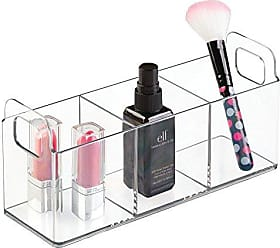 InterDesign Clarity Cosmetic Organizer Tote for Vanity or Medicine Cabinet - Perfect Storage for Makeup or Cosmetics - Medium, Clear
