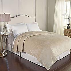 Ellery Homestyles Beautyrest 16928BEDDF/QIVY Bernadine Warming Technology Blanket, Full/Queen, Ivory