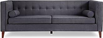 Kardiel JEFFERSON3-URBANINK Jefferson Mid-Century Modern Sofa with Wood Legs, Urban Ink