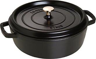 20 cm Noir STAUB 40508-114-0 cocotte en Fonte la coqu/ête