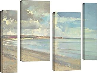 Brushstone Timothy Easton Reflected Clouds, Oxwich Beach, 2001 4 Piece Gallery Wrapped Canvas Staggered Set, 24X36