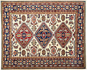 Solo Rugs Hand Knotted Area Rug 53 x 63 Multicolor