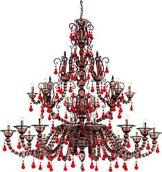 VENINI Diamantei 21-light Chandelier In Red