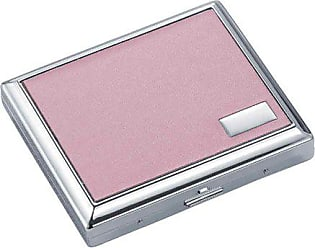 Visol Products Leatherette Double Sided Cigarette Case, Regular Size, India Pink
