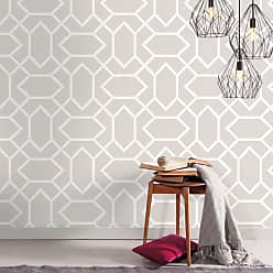 RoomMates Modern Geometric Peel and Stick Wallpaper Light Gray - RMK9065WP