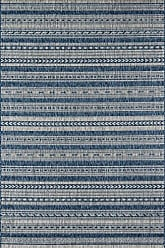 Momeni Rugs Novogratz Villa Collection Tuscany Indoor/Outdoor Area Rug, 53 x 76, Blue