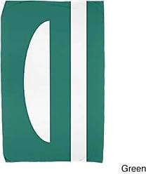 E by Design Ebydesign Lock Geometric Print Beach Towel 30 x 60 Green