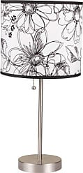 Ore International ORE International 8312A 19-Inch Brushed Steel Table Lamp with Floral Print Shade
