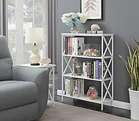 Convenience Concepts 161844WFW Tucson Bookcase, White
