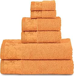 Home City Inc. Superior Wisteria 100% Cotton Towel Set, 6 Piece, Mandarin