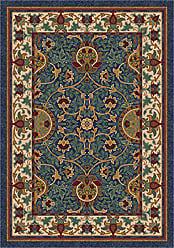 Milliken Carpet 4000032311 Pastiche Collection Sumero Square Area Rug, 77 x 77, Midnight