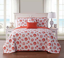 VCNY Home VCNY Home Marco 5 Piece Reversible Quilt Set, Full/Queen, Coral