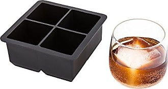 Restaurantware 2-inch Square Ice Tray - Makes 4 Cubes: Perfect for Commercial Bars or Home Use - Constructed from Durable Black Silicone - Dishwasher Safe - 1-CT - Restaurantware