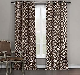 Duck River Textile Duck River Textile Harris Heavy Geometric Insulated Blackout Room Darkening Window Curtain Set of 2 Panels, 36 X 84, Brown
