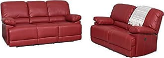 CorLiving LZY-352-Z2 Lea Collection Reclining Sofa Set Red