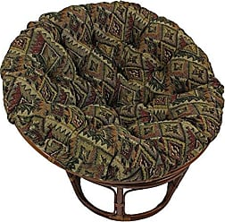 Blazing Needles Patterned Tapestry Papasan Chair Cushion, 44 x 6 x 44, Safari
