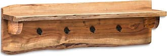Alaterre Alpine Natural Live Edge Wood 36 in. Coat Hooks with Shelf - AWAA3320