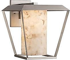 Justice Design Group Alabaster Rocks! Patina Outdoor Wall Sconce