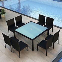 Harmonia Living Outdoor Harmonia Living Urbana Resin Wicker 9 Piece Square Patio Dining Set - HL-URBN-CB-9SDS-IN
