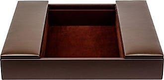 Dacasso Chocolate Enhanced Brown Leatherette Conference Room Organizer