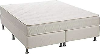 Ortobom Conjunto Cama Box Physical com Colchão Queen Molas Nanolastic American Spring (22x158x198) Branco