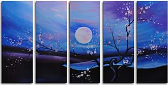 Omax Decor Moonlit Pond 5-Piece Canvas Wall Art - 60W x 32H in. - M 2029
