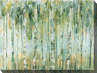 West of the Wind Indoor/Outdoor Forest in Sage Wall Art - OU-87001
