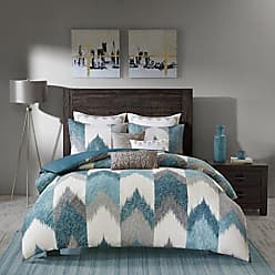 Ink + Ivy Ink+Ivy Alpine Duvet Cover Full/Queen Size - Aqua, Grey, Ivory, Pieced Chevron Duvet Cover Set - 3 Piece - 100% Cotton Light Weight Bed Comforter Covers