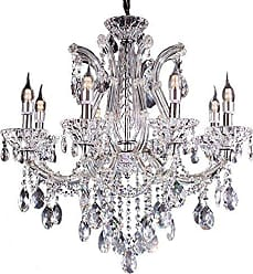 Ore International Ore International K-5803H 27.5W x 26H Marseille Crystal Chandelier with LED Lights, Clear