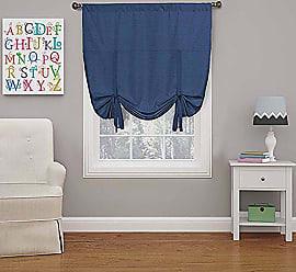 Ellery Homestyles Eclipse 16170042X063DEN Kendall 42-Inch by 63-Inch Blackout Window Single Tie-up Shade, Denim