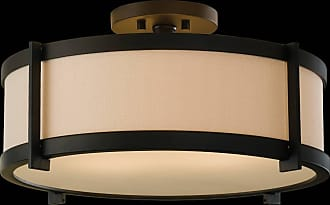 Feiss SF272ORB Stelle Semi Flush in Oil Rubbed Bronze finish with Cream Color Linen Fabric