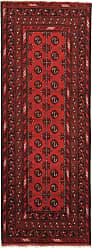 Nain Trading Handknotted Afghan Akhche Rug 79x29 Runner Dark Brown/Rust (Wool, Afghanistan)