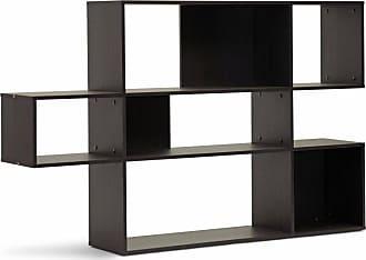 Baxton Studio Lanahan 3-Level Modern Display Shelf - Dark Brown - WI4883 (3A)