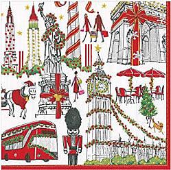 Caspari Inc - Papel de regalo dise/ño de rayas color rojo y blanco
